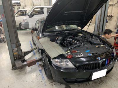 BMW Z4クーペ車検&オイル漏れ修理
